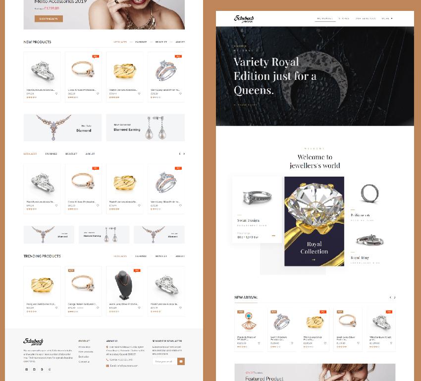 Jewelry Ecommerce Mockup Figma Kit
