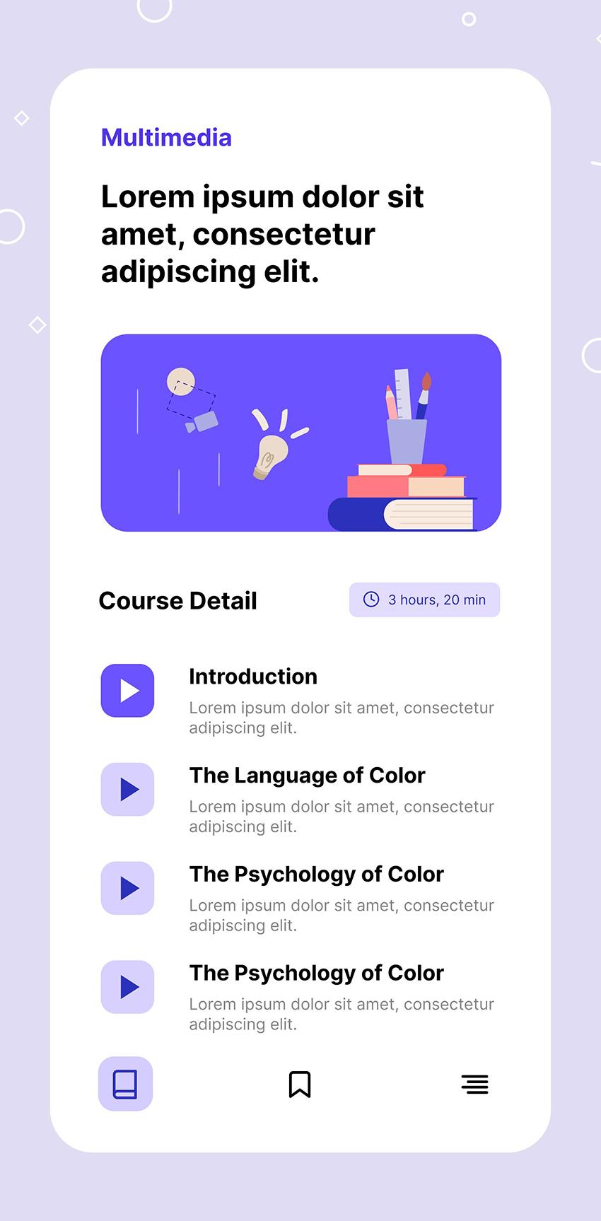 Online Learning Figma App Frebie ui