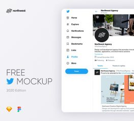 twitter start page figma 2020 mockup