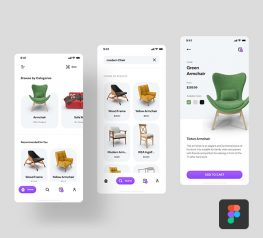 furniture figma app design free download