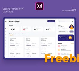 Booking Management UI kit adobe xd