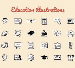 education icons pack vector svg