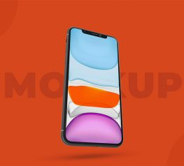 iPhone 11 Mockup is PSD mockup freebie