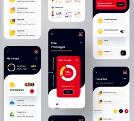 File Manager App UI Design figma