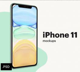 iphone 11 mockup psd layered