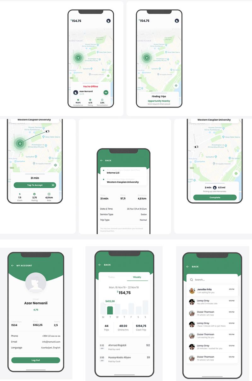 Taxi Service App UI Kit