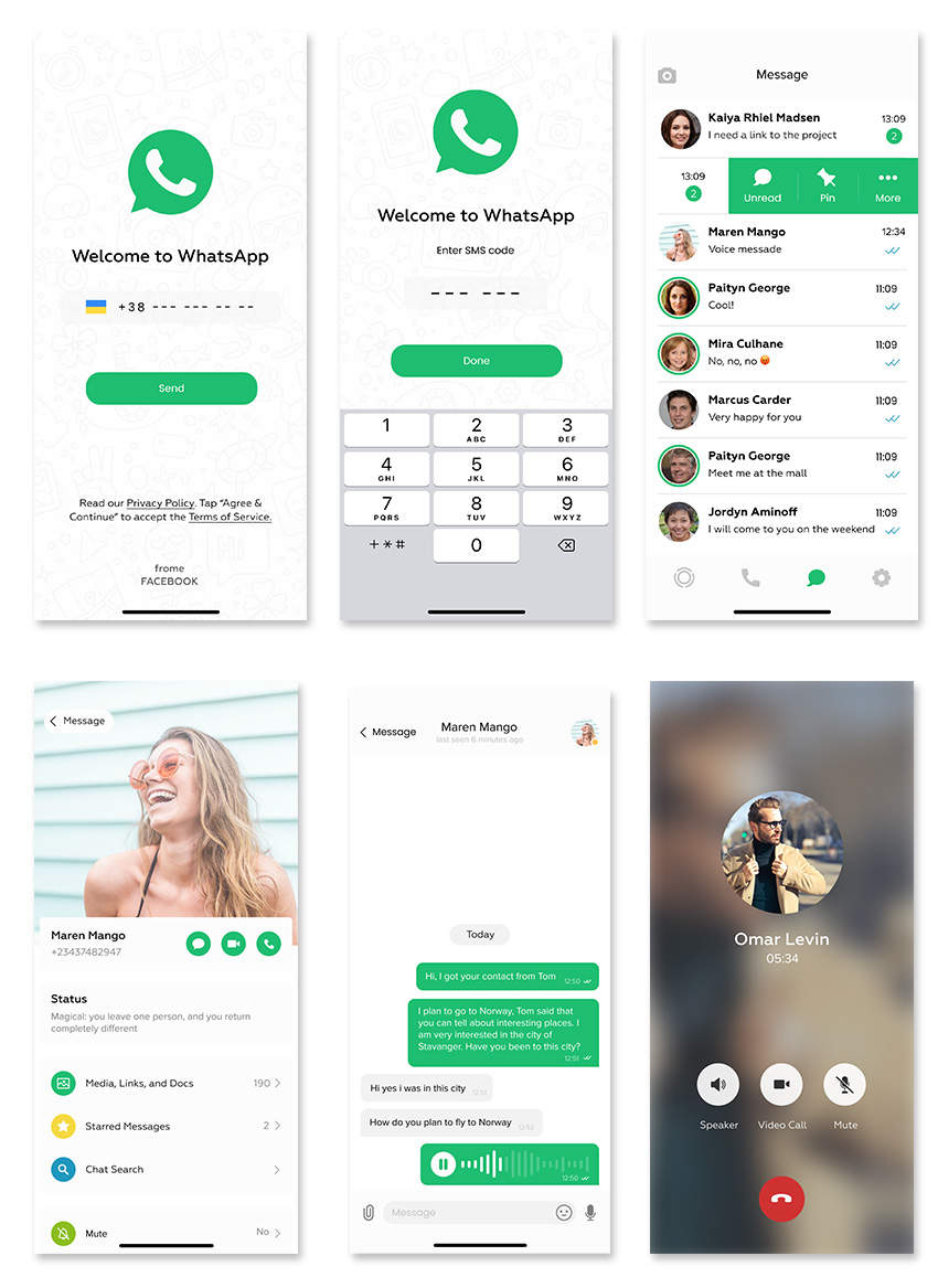 WhatsApp Redesign UI Kit