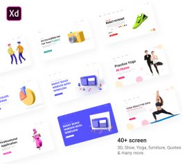 42 Landing page concepts adobexd free download