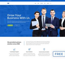 Business Web PSD Template photoshop layers web free download