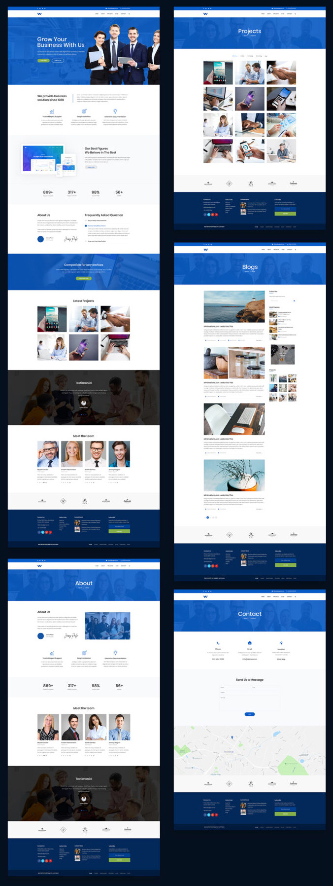 Business Web PSD Template photoshop layers web design