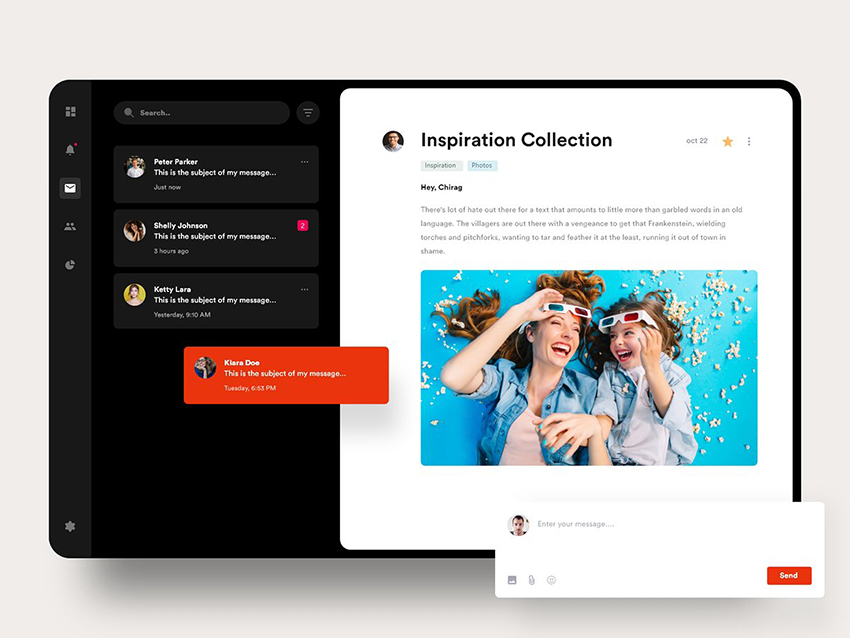 Email Web Template Design adobe xd