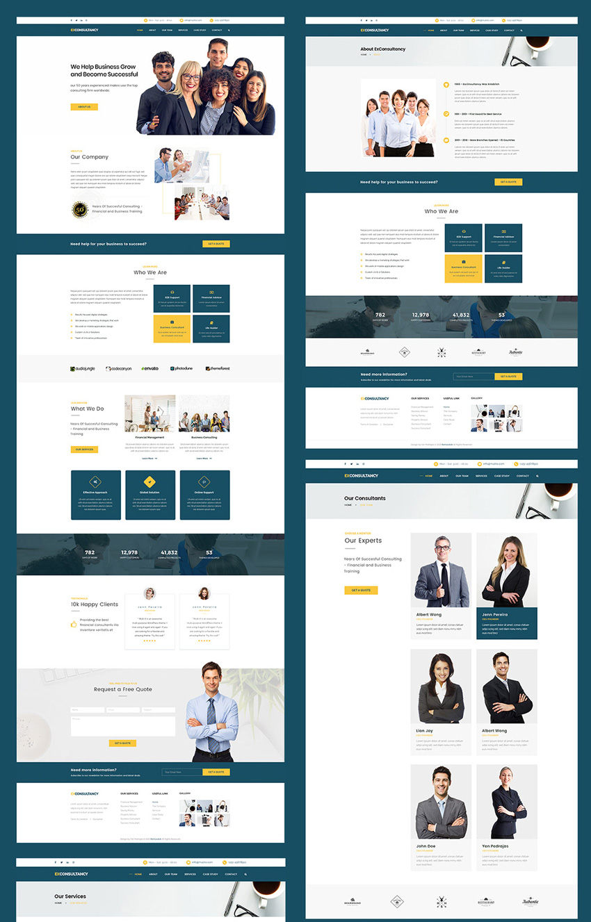 Consultant PSD Website Template photoshop free download