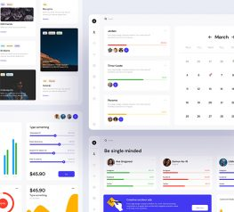 Material Dashboard UI Kit sketch figma free download