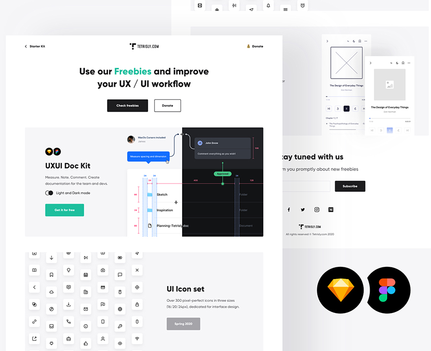Starter kit for UI design figma sketch icons workflow