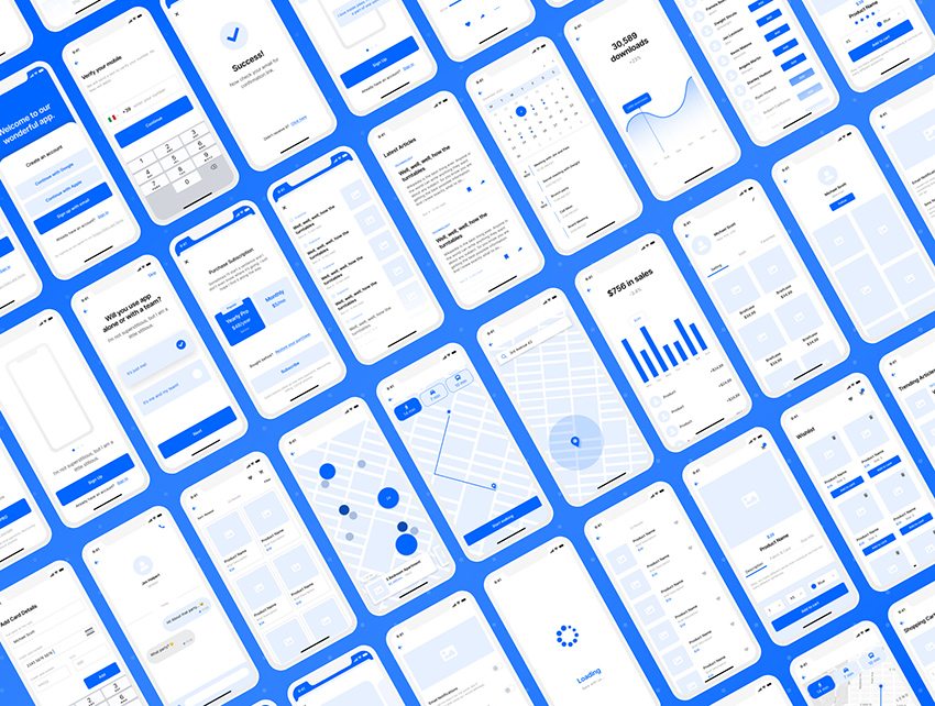 Wireframe Kit for iOS Apps adobe xd free download
