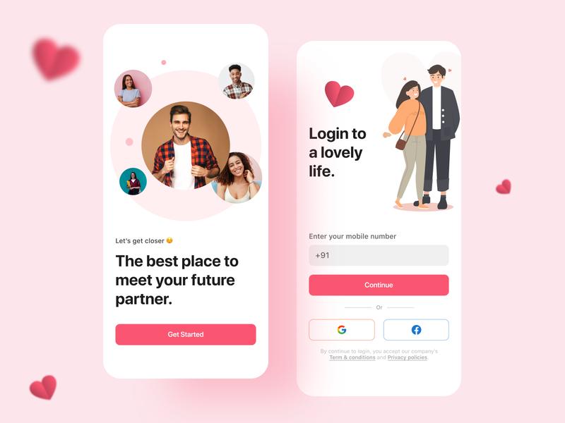 Dating App Sign up Design adobexd figma sketch