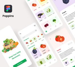 Grocery Shop App Design free download figma