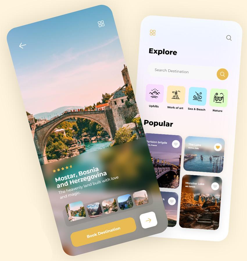 Minimal Travel App Design adobexd free download