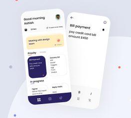 To-Do List App UI Kit figma free download