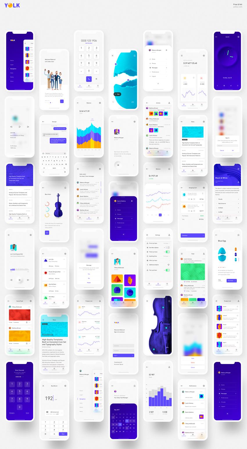 Yolk - Universal iOS UI Kit free download