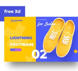Animated Footware Shop adobexd free download