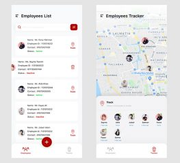 Employees Tracker App figma