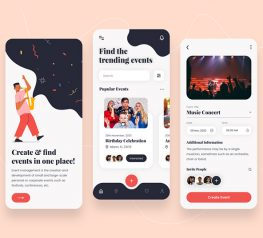 Event Management App Design photoshop free download