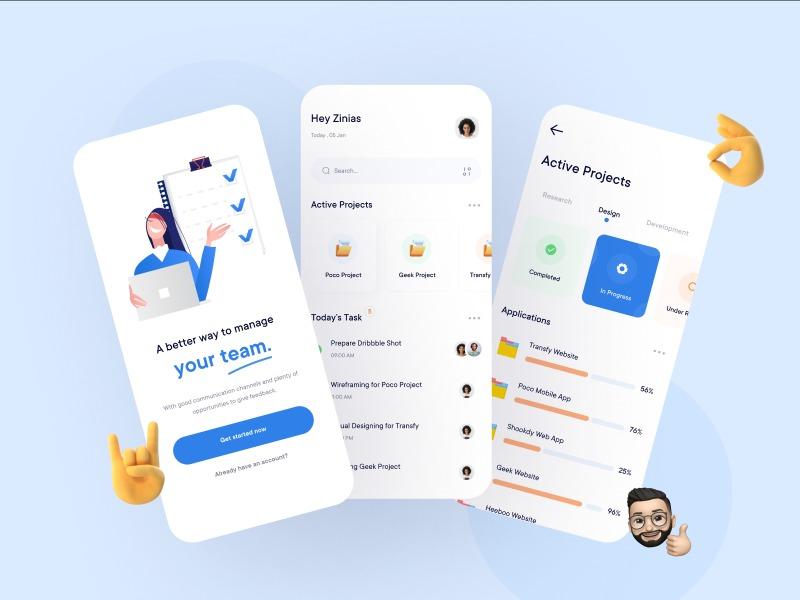 Team Management App adobe xd figma free