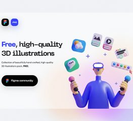 3D Figma Illustration Pack free download