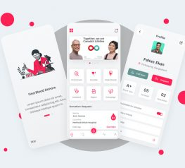 Blood Donor Medical App figma free download