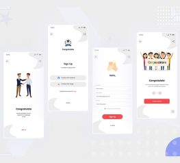 Congratulate Sign Up UI Kit figma free download