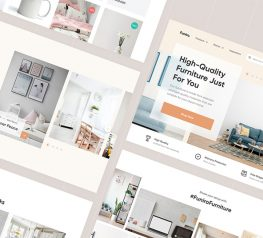 Furniture Shop WebDesign figma free download