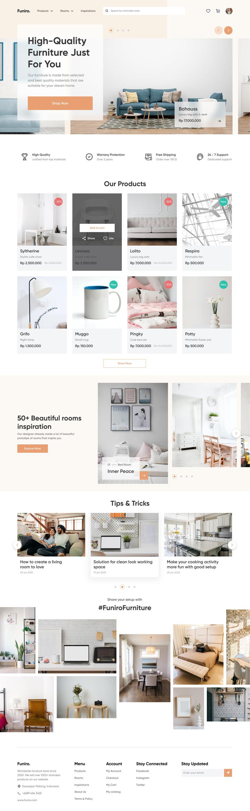 Furniture Shop WebDesign figma free download
