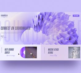 Music Portal Web Template adobexd free download
