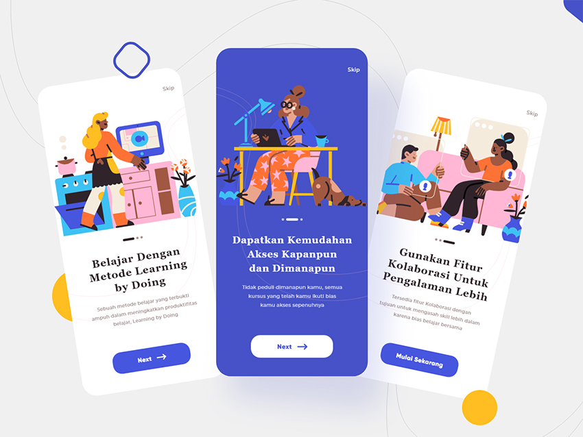 Onboarding For Course App adobexd free download