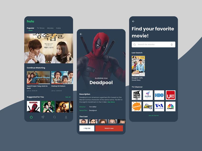 Streaming Videos App UI Kit figma free download