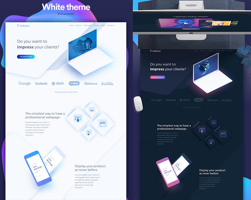 Creative UI Website Kit sketch vector free
