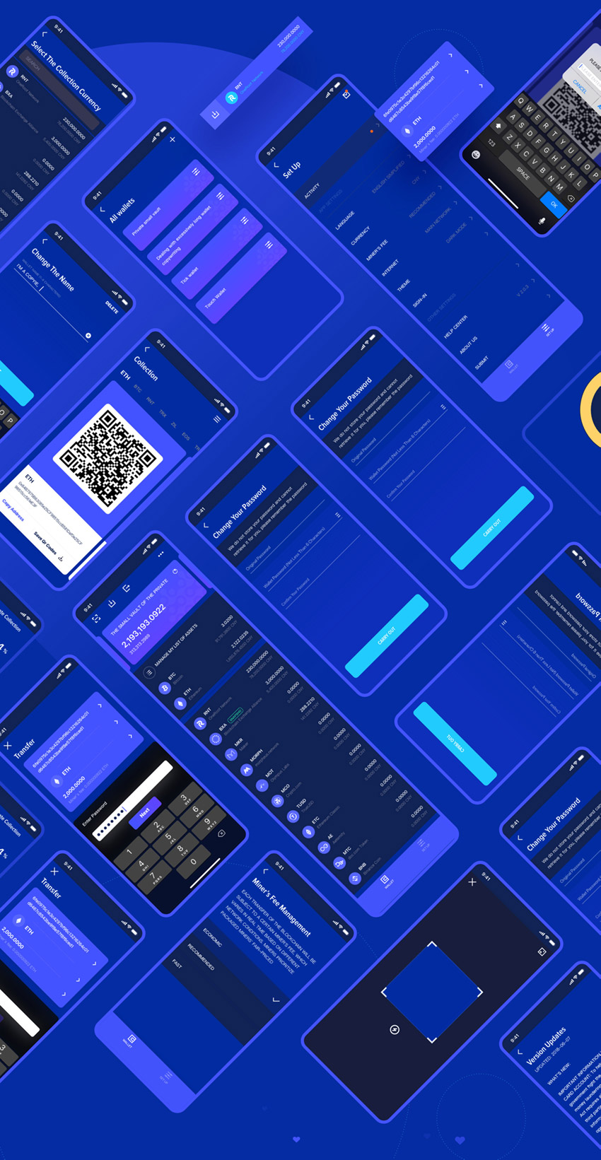Crypto Currency App screens