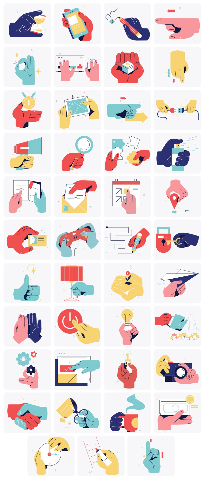 Hand Motions Illustrations free png