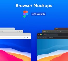 Multiple Browser Mockups figma free