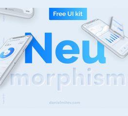 Neumorphism FREE UI Kit figma