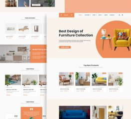 Orange Shop Web Design psd free download