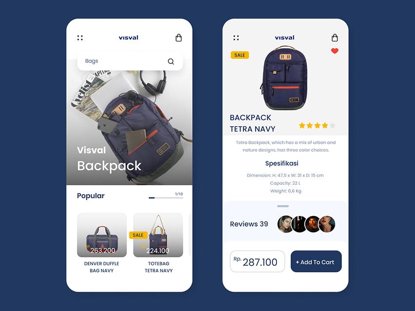 Product Details App UI Kit figma element online shop