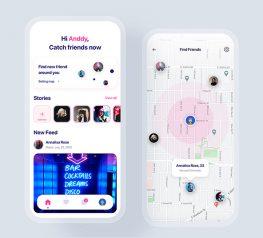 Social Dating app UI concept sketch free download