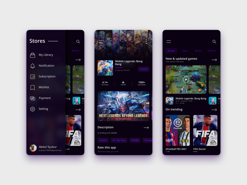 Apps Store UI Concept figma free download