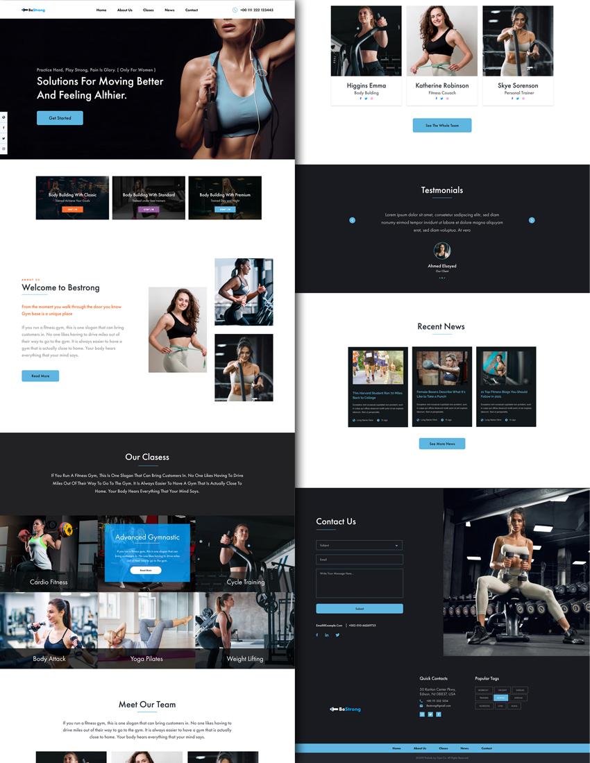 Bestrong Fitness Webdesign adobexd