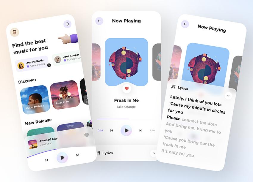 Music Player App UI Free figma download