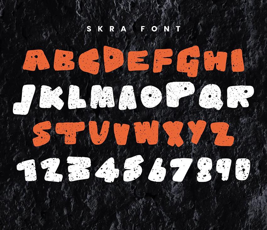 Skra - Decorative Free Font