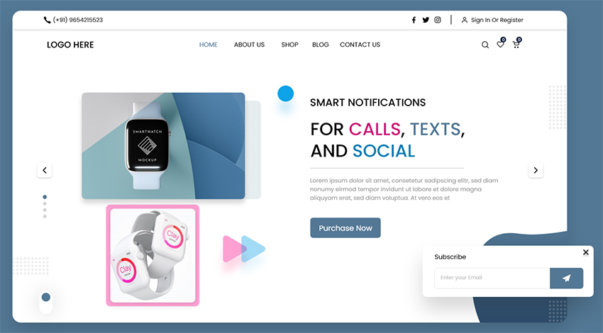 Tech Product Webdesign adobexd free dowlnload