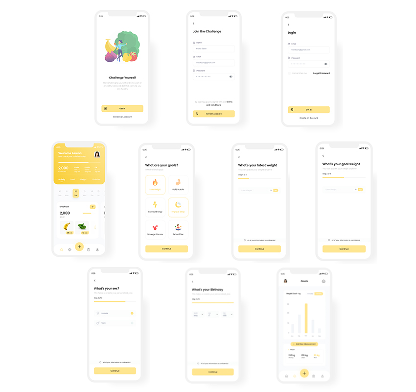 Calorie Counter App UI adobexd free download